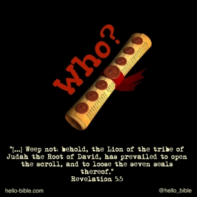 32. Now what?! Who can open the scroll? * Revelation 5:2-5