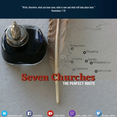 11. The route of the seven churches * Introduction to Revelation 2 and 3