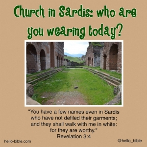 22. Church in Sardis, dead and exposed * Revelation 3:1-6, Part 1 of 2