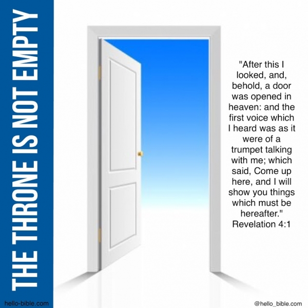 28. An open door to the throne * Revelation 4:1-4